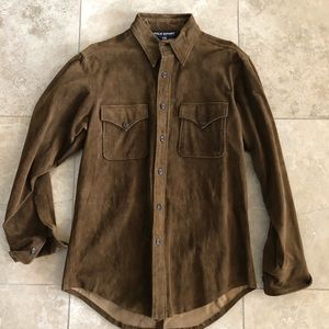Vintage Polo Sport suede shirt